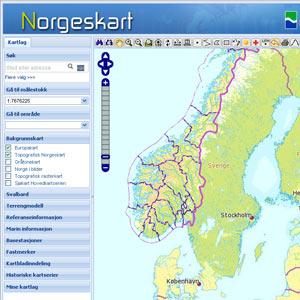 Online Topografisk Kort Over Norge Nemt Og Interaktivt