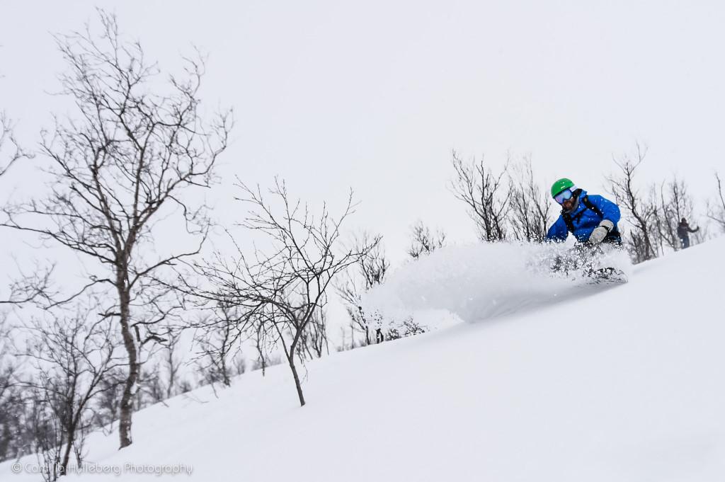 Sneen var oftest bedst lavt og i åben skov, hvilket bestemt er super sjovt.