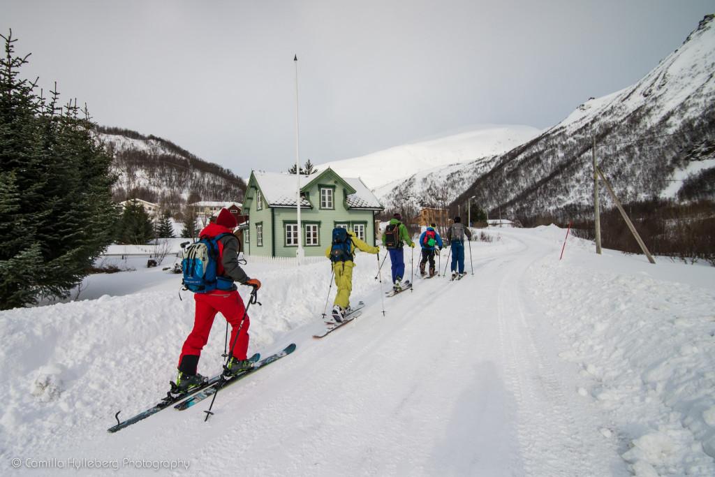 Byvandring på ski.