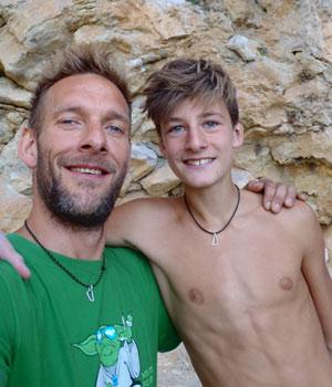 Esben og Noah Seir i Siurana