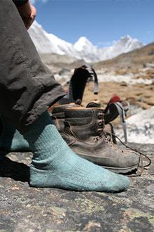 Gode læderstøvler, gode sokker, godt selskab - god vandretur!