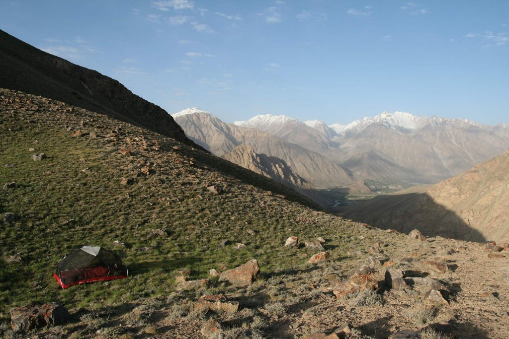 MSR Hubba Hubba i brug uden oversejl i Tajikistan. Foto: Frank Wiwe.