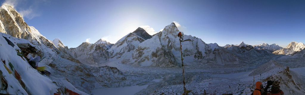 Udsigt fra kala Pattar, Everest Base Camp Trek