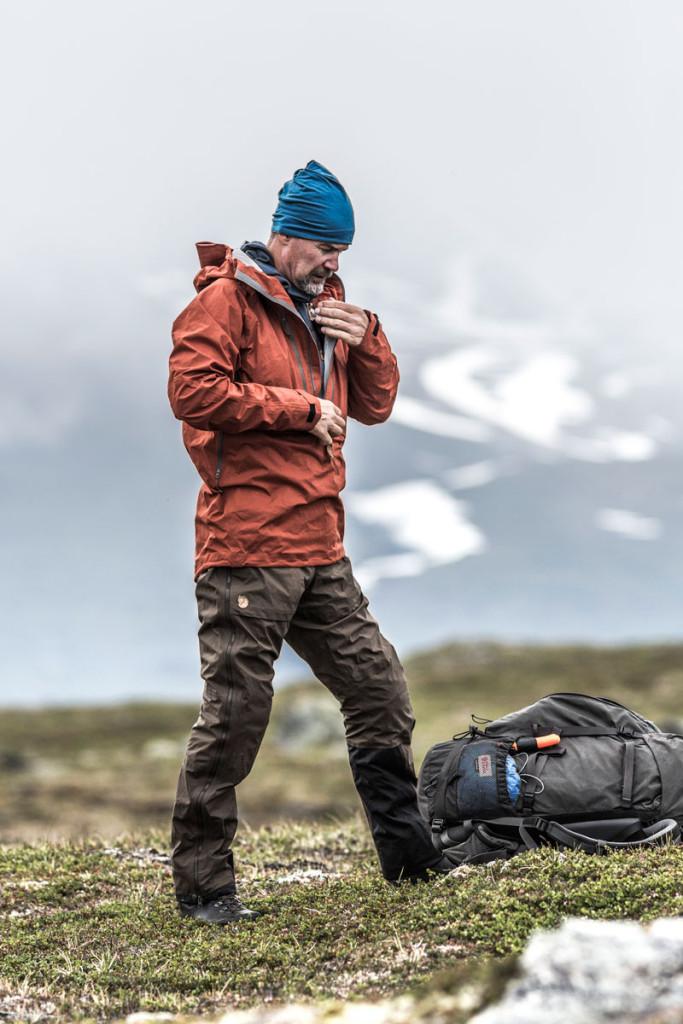 Keb Eco Shell-jakken i aktion. Foto: Fjällräven.