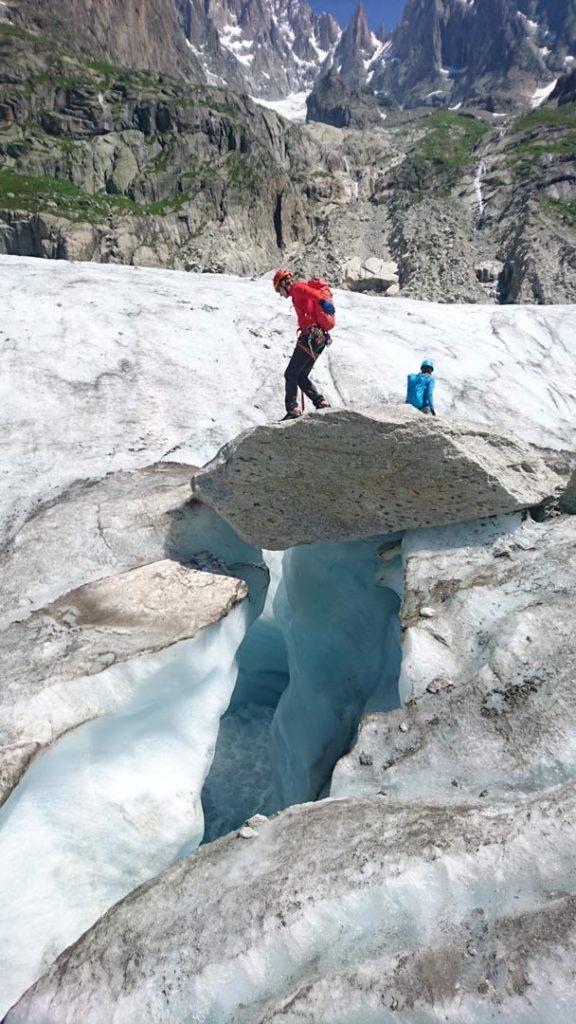 Mer de Glace-gletsjeren. Foto: Mathias Pape.