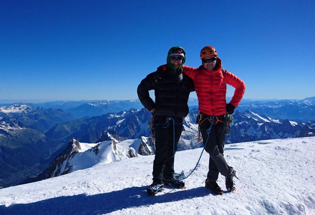 Emil og Mathias på toppen af Mont Blanc. Foto: Mathias Pape.