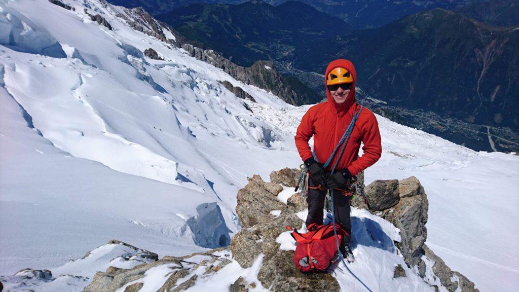 På toppen af Couloir Chéré. Foto: Mathias Pape.