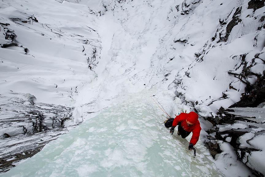Isklatring og produktudvikling i Norge. Foto: Arc'teryx.