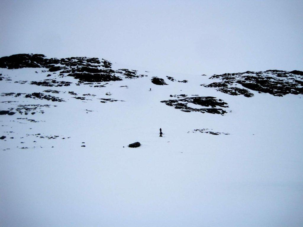 Det sidste stykke af renden ned, der var lidt svært at vurdere oppefra. Foto: Rasmus B. Munk.