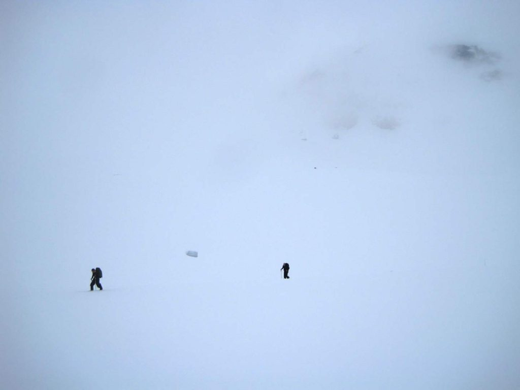 På vej op ad det sidste stejlere stykke mod Styggehøbreaskaret. Foto: Rasmus B. Munk.