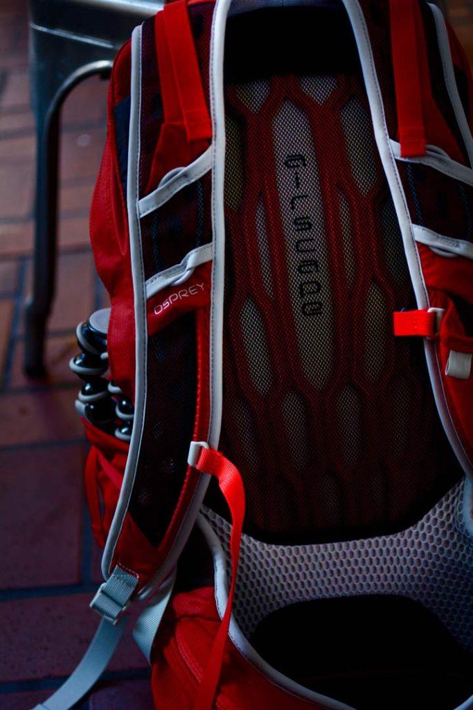 AirScape-rygstykket i den nye Talon 22. Foto: August Wennerwald.