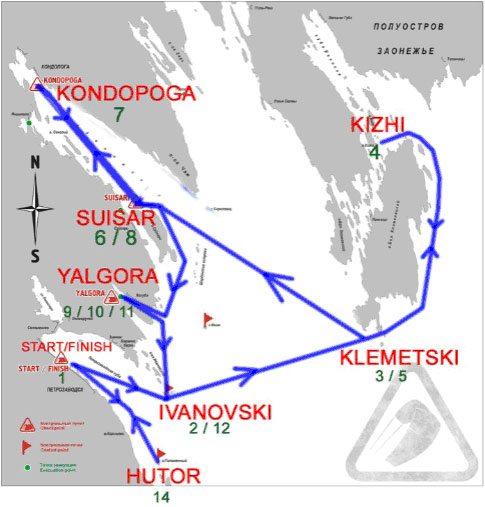 Kort over ruten