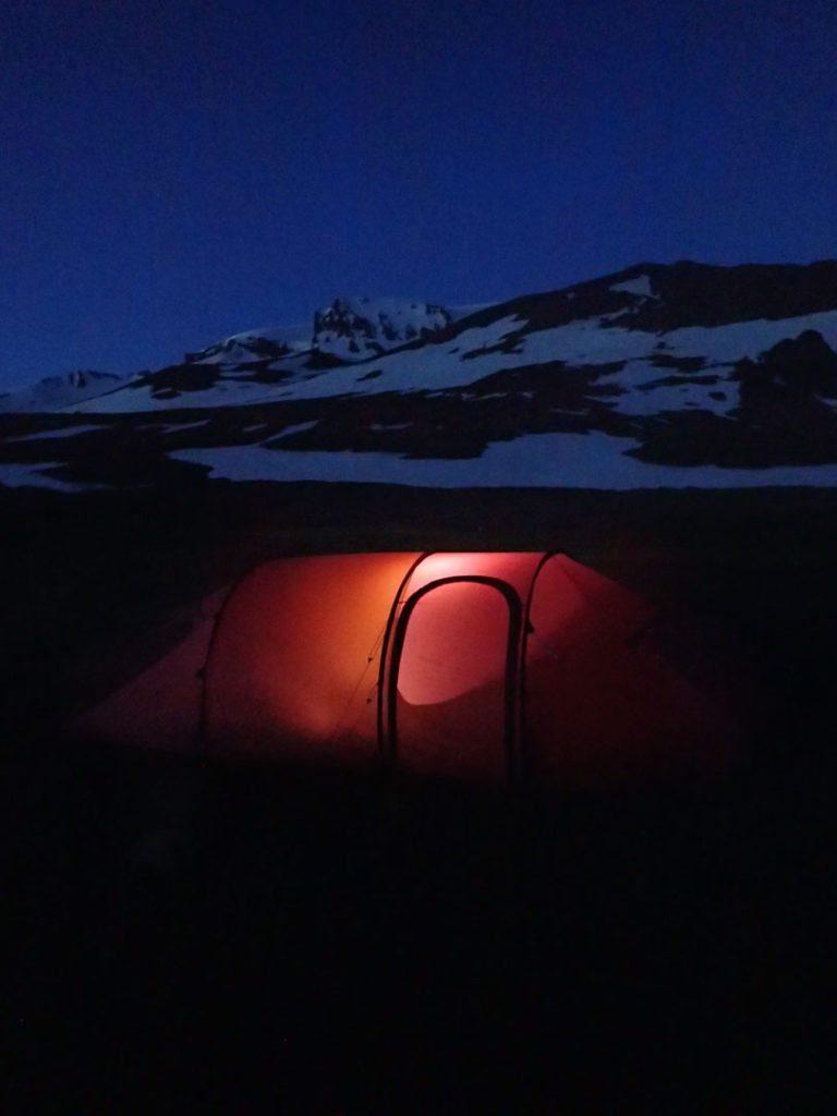 Alines Nammatj 3GT for foden af Islands højeste fjeld, Snæfell. Foto: Aline Boer.