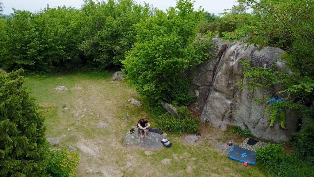 Bouldering. Tekniktræning med Esben Seir på Kjugekull. Foto: Camilla Hylleberg.